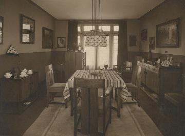 huiskamer interieur eind jaren twintig